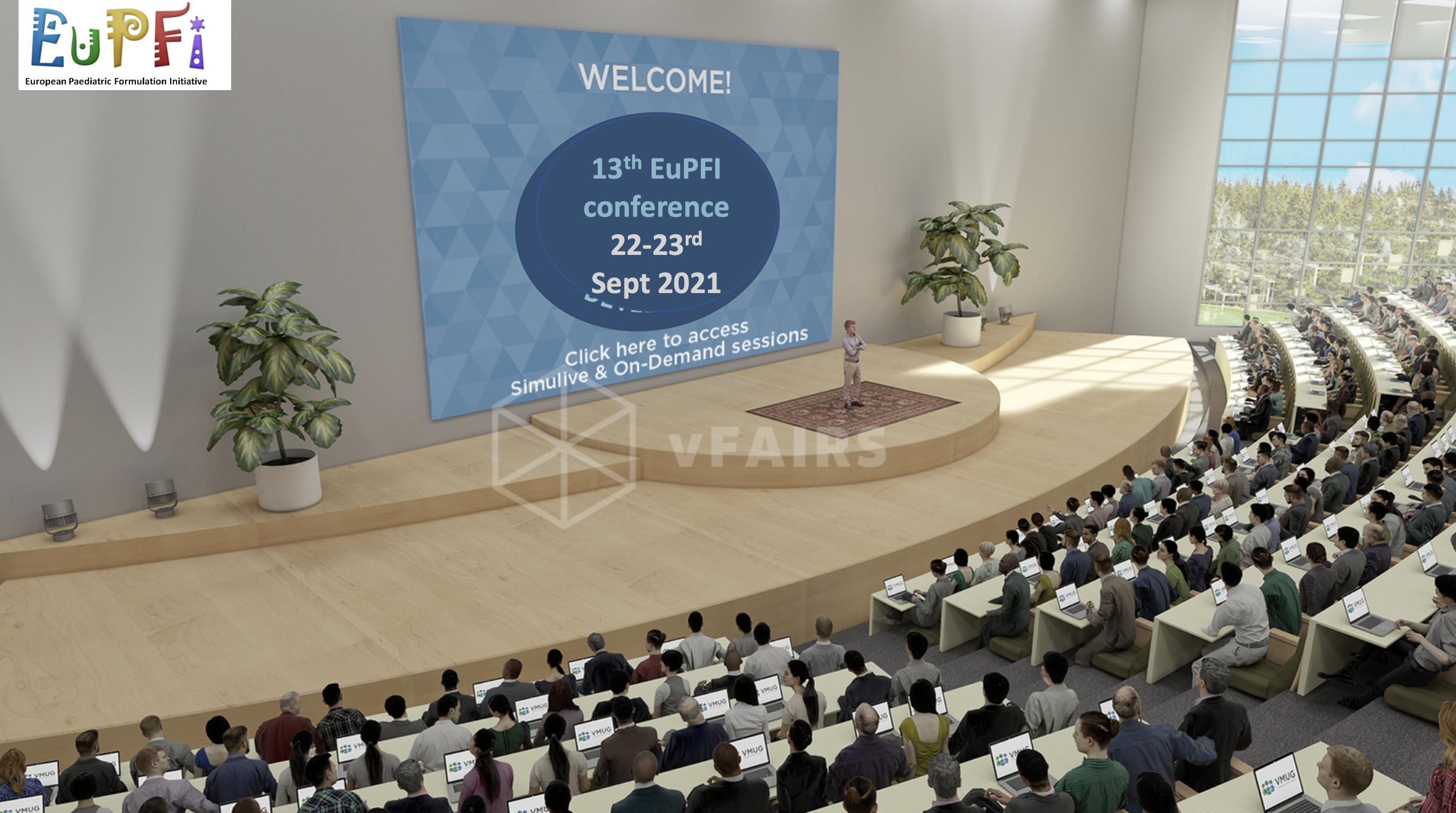 EuPFI 2021 auditorium
